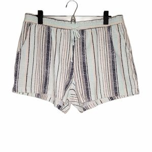 Z Supply elastic waist shorts blue stripe large